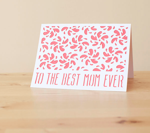 to the best mom ever card