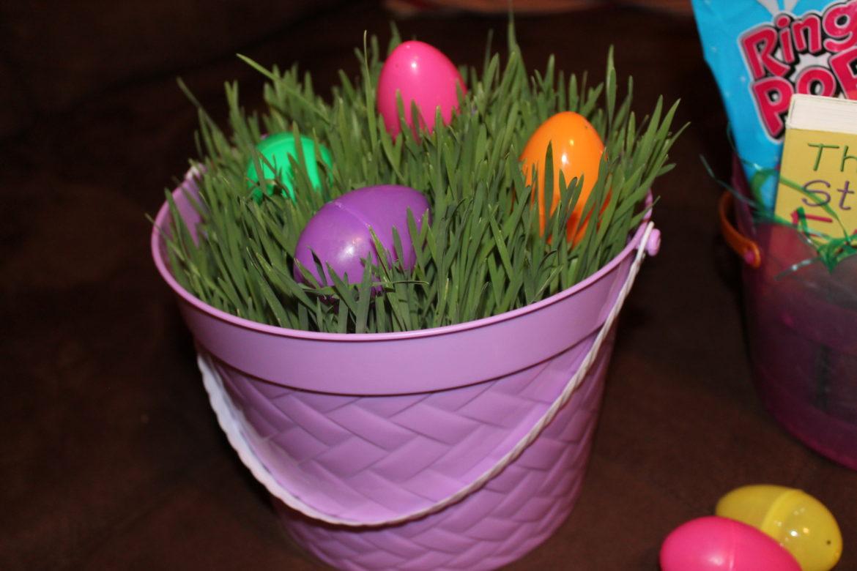 DIY Easter Grass in a Basket