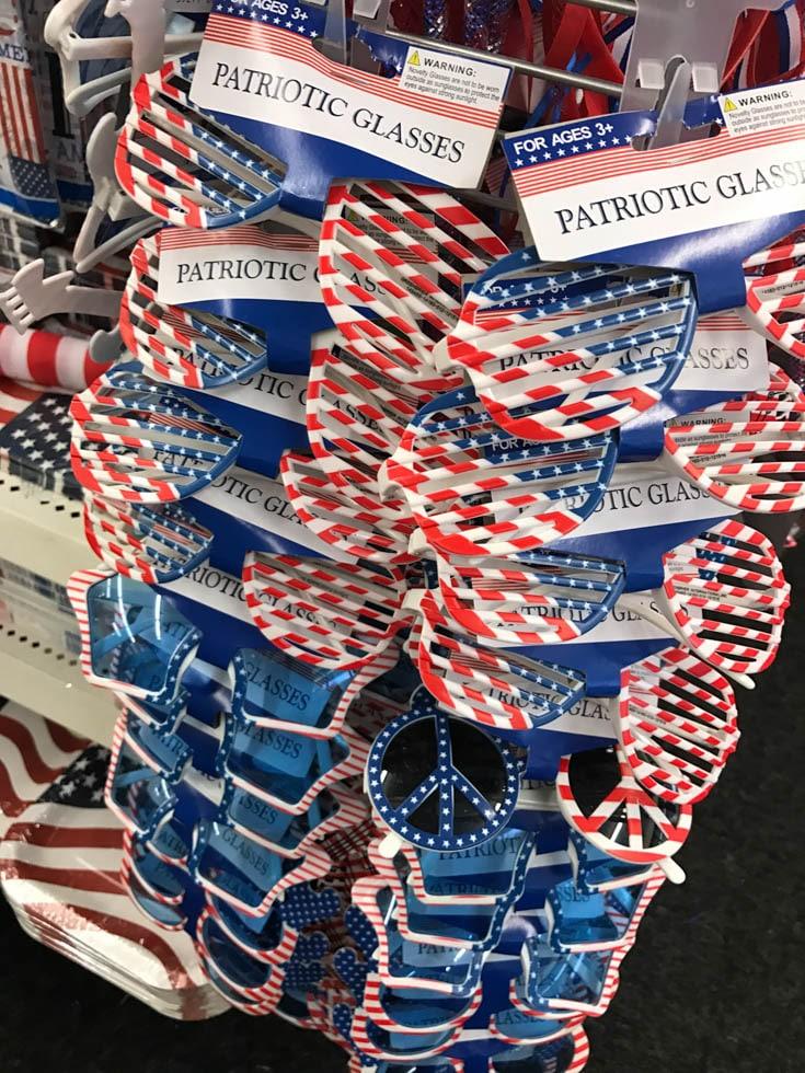 dollar tree patriotic glasses