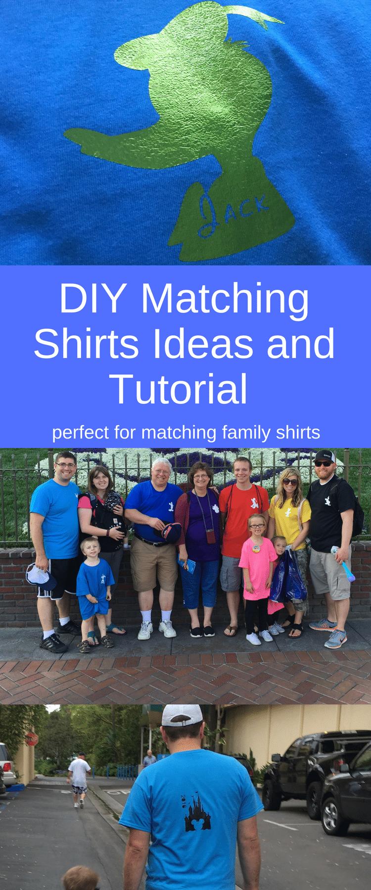 DIY Disneyland Shirt / Matching Disneyland Shirts / Family Disneyland Shirts / Disneyland T-Shirts / Disneyland Shirt