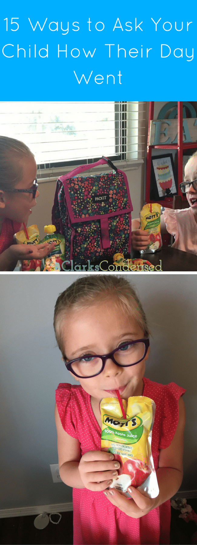 #StartStrongWithMotts #IC #ad Try delicious  NEW Mott's 100% Juice Pouches. They are so sweet and flavorful and perfect for an after school snack!  via @clarkscondensed