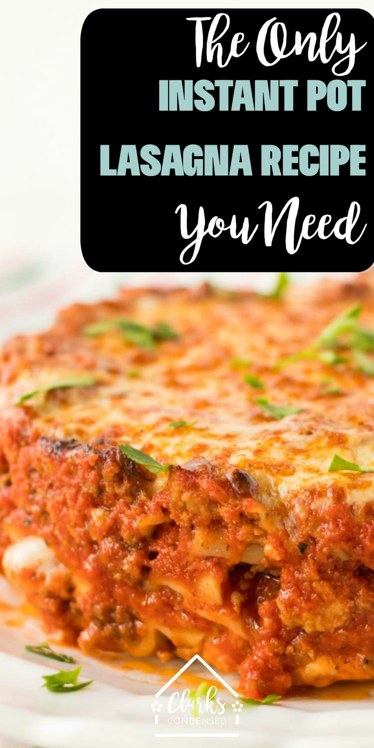 It isn't hard to learn how to cook lasagna in a Instant Pot - in fact, some might call this recipe an Instant Pot miracle lasagna! While this may not be the recipe for you if you are looking for an Instant Pot Lasagna no springform pan, it's sure to be a popular option in your family for years to come. We love this Instant Pot Lasagna casserole recipe - you'll never try anything better!