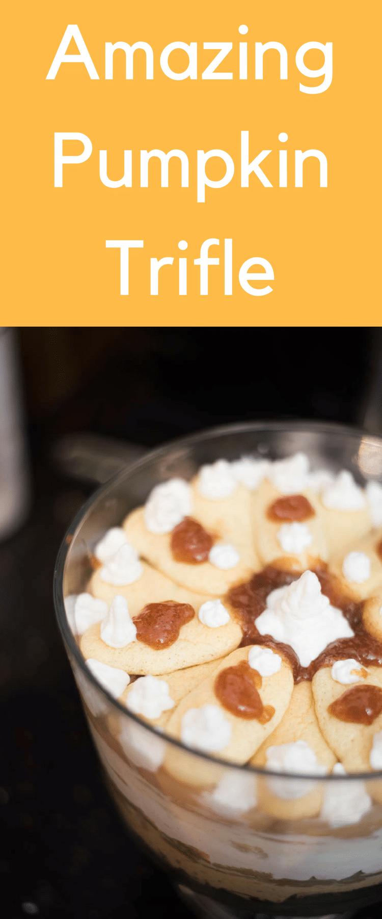 pumpkin trifle / fall trifle / caramel apple trifle / pumpkin recipe / fall dessert #fall #fallrecipes #falldessert via @clarkscondensed