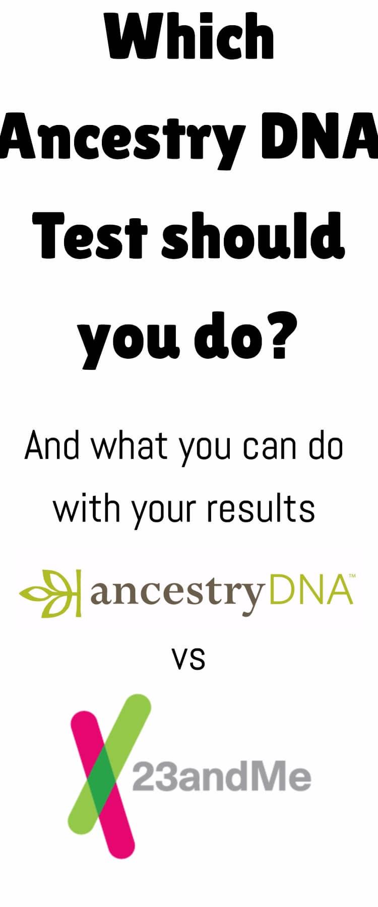 AncestryDNA vs 23andme / family history/ dna testing / family / mormon /