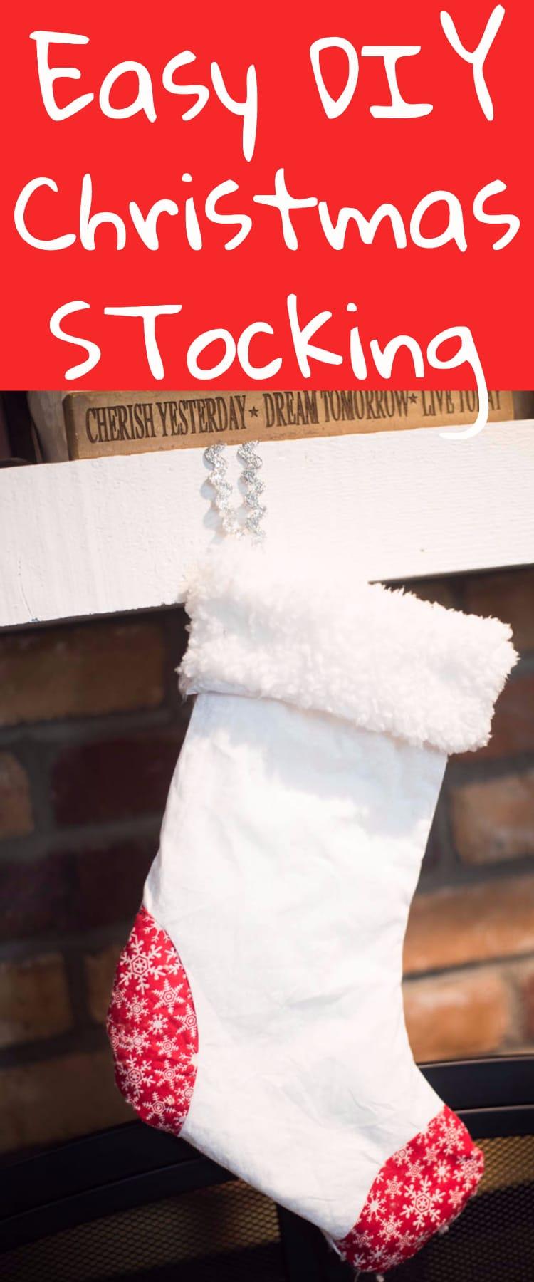 Easy DIY Christmas Stocking / Christmas Stocking / DIY Christmas / Christmas ideas / Cricut Christmas #Cricut