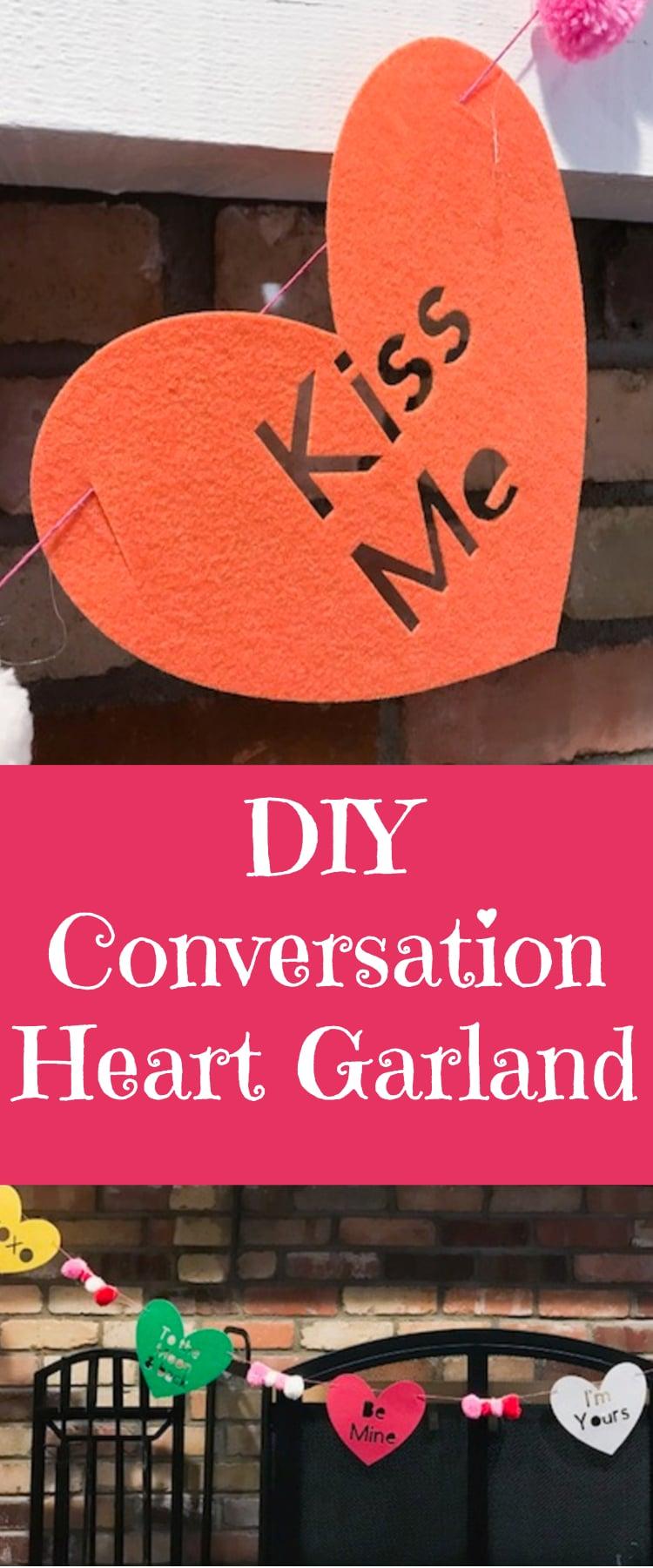 DIY Heart Garland / Cricut Garland / Cricut Valentine's Day / DIY Valentine's Day / #cricut #cricutmaker #cricutvalentines #DIY