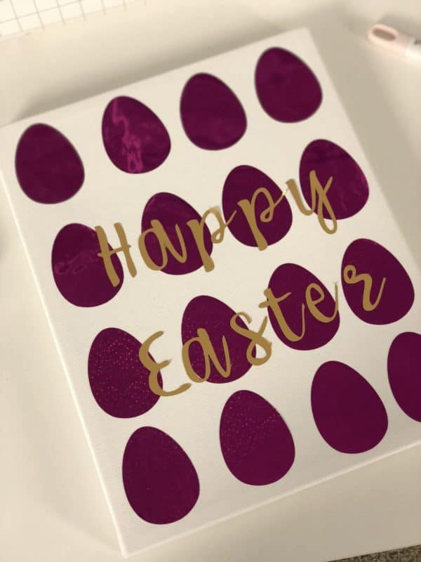 easter egg canvas