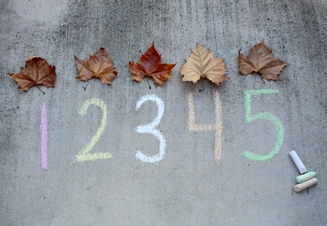 Leaf and Number Halloween activities