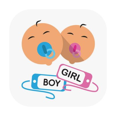 Baby name tracker image of two babies sucking on pacifiers