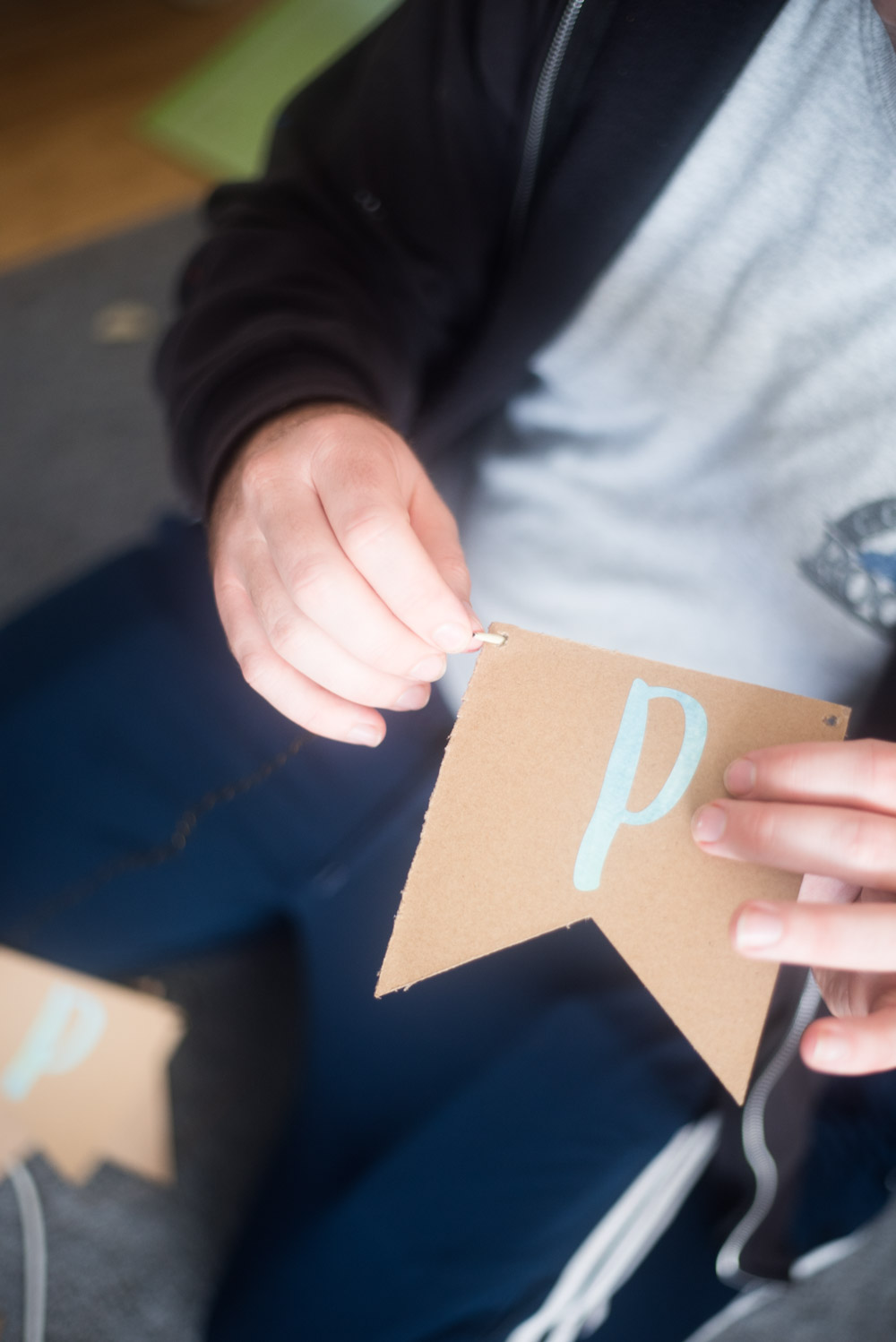 p on a chipboard