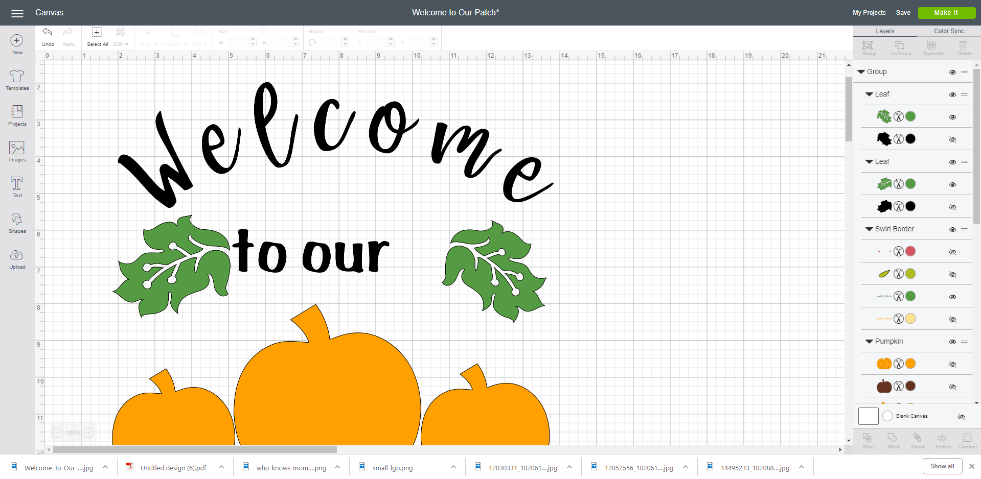 welcome to our patch in cricut