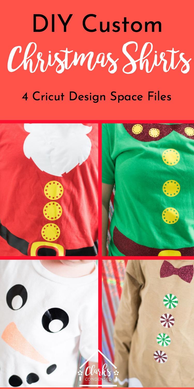 DIY Christmas Shirts with Cricut via @clarkscondensed
