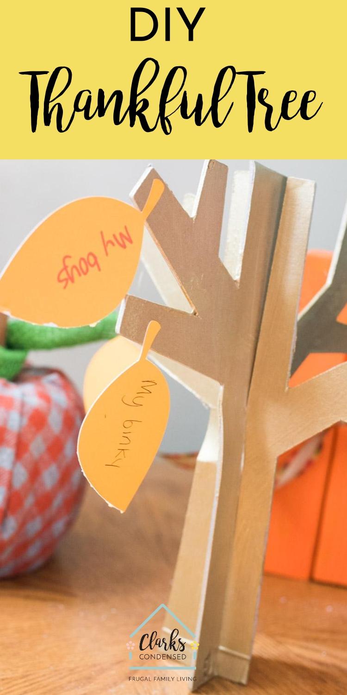 Cricut THanksgiving / Thanksgiving Tree / Thankful Tree / Thanksgiving Craft / Cricut Crafts via @clarkscondensed