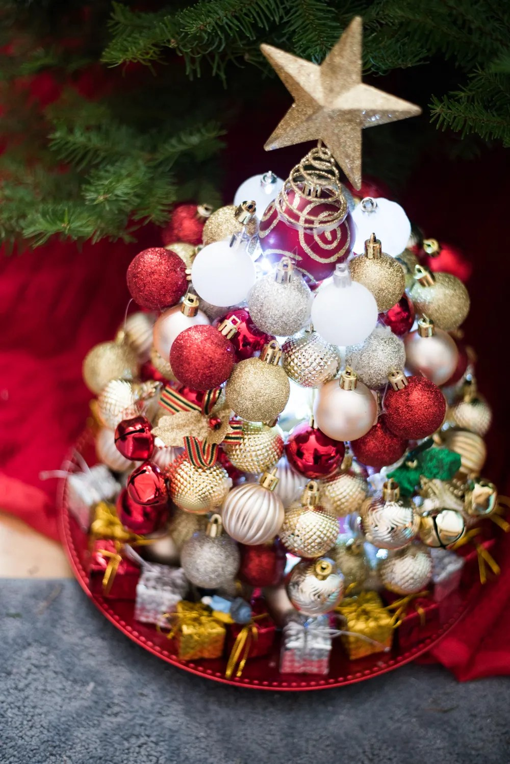 Diy Ornament Christmas Tree More Dollar Tree Christmas Projects