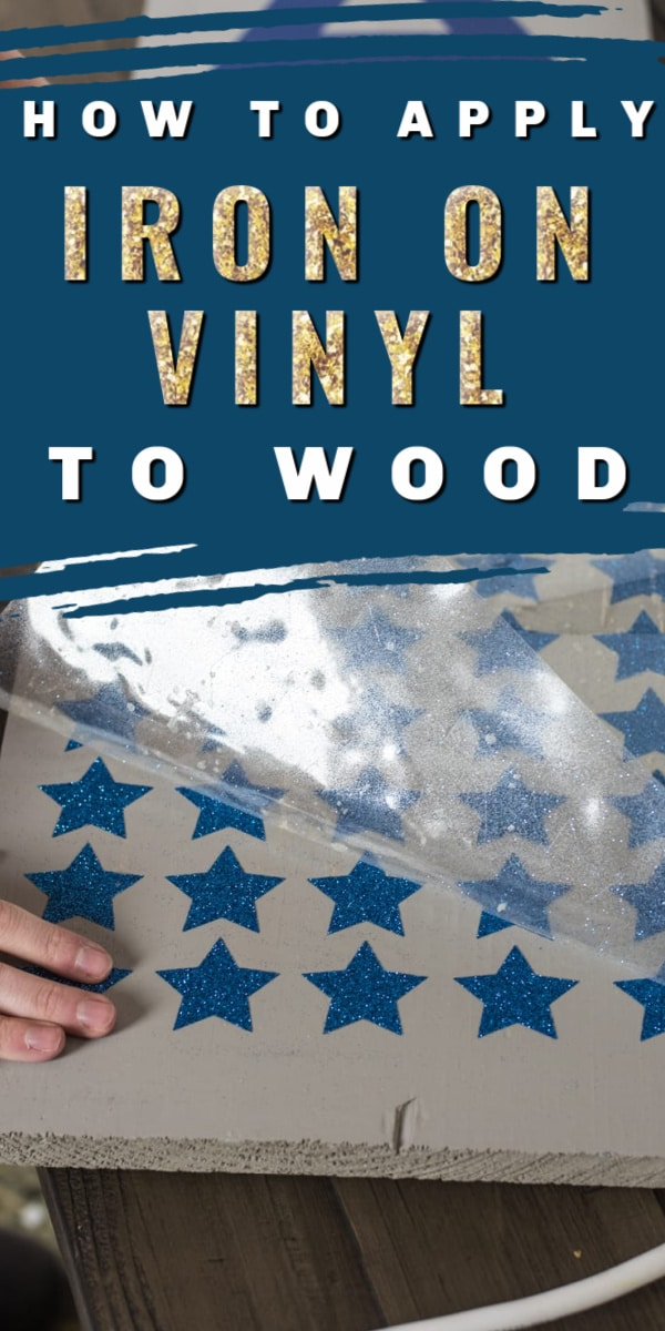 Did you know that you can use iron-on vinyl/HTV on wood? It's our favorite way to add vinyl to wood! In this post, you will learn all about using this fun technique, as well as how to make a front porch sign (with free Design Space file!) #cricutmade #cricutmaker #crafts #vinyl #ironon #htv via @clarkscondensed
