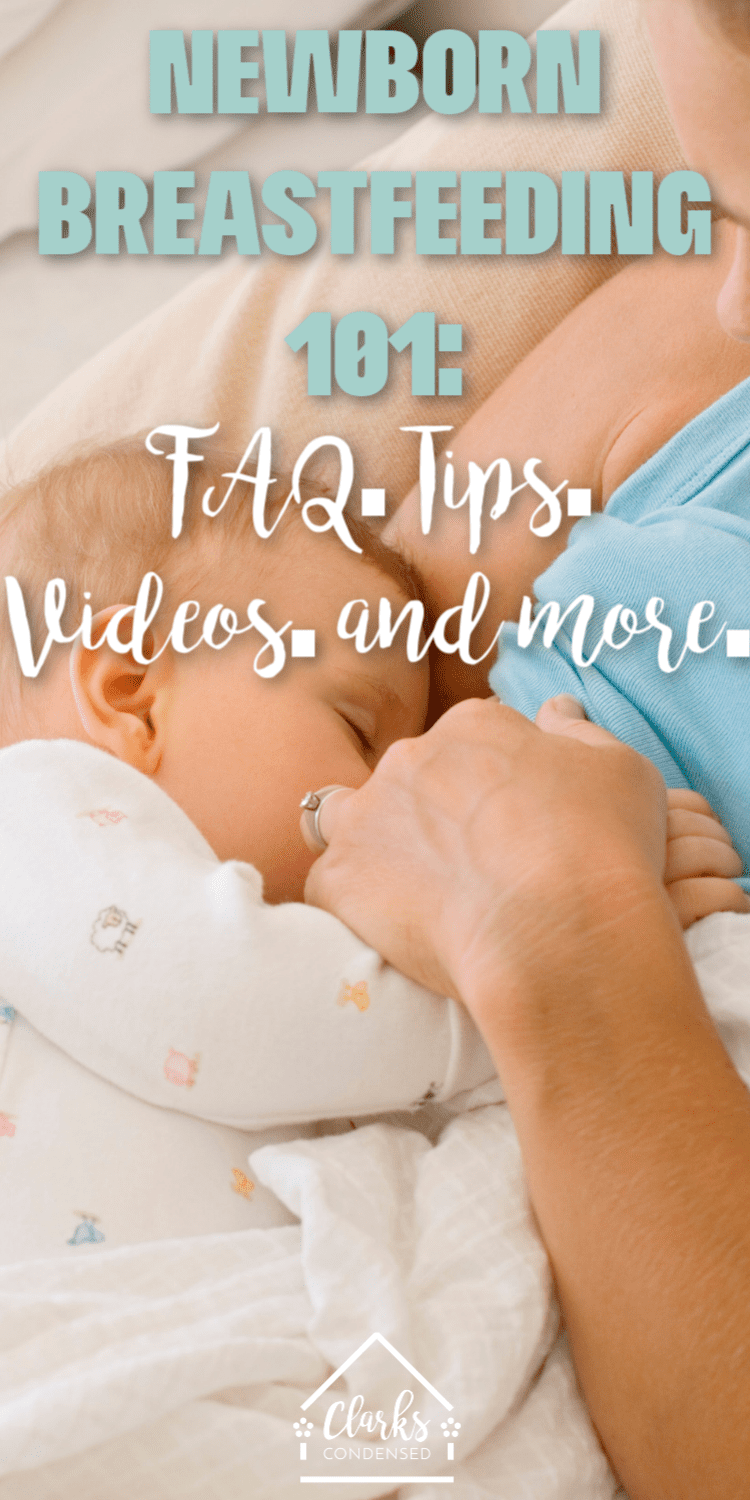 """Do you wonder how often to feed newborn at night? Or asking """"Do I have to offer both breasts each feeding?"""" If you are new to breastfeeding a newborn, or breastfeeding my newborn hurts, then this post will answer everything you need to know. via @clarkscondensed"""