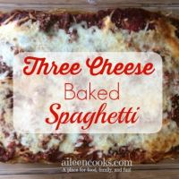 Three Cheese Baked Spaghetti