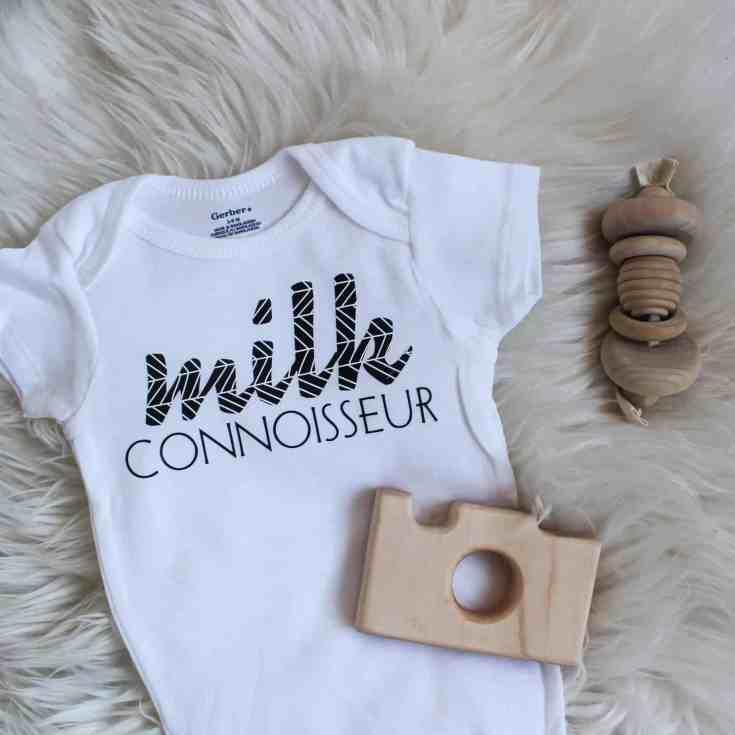 DIY Baby Onesies with Cricuts Patterned Vinyl | Love Create Celebrate