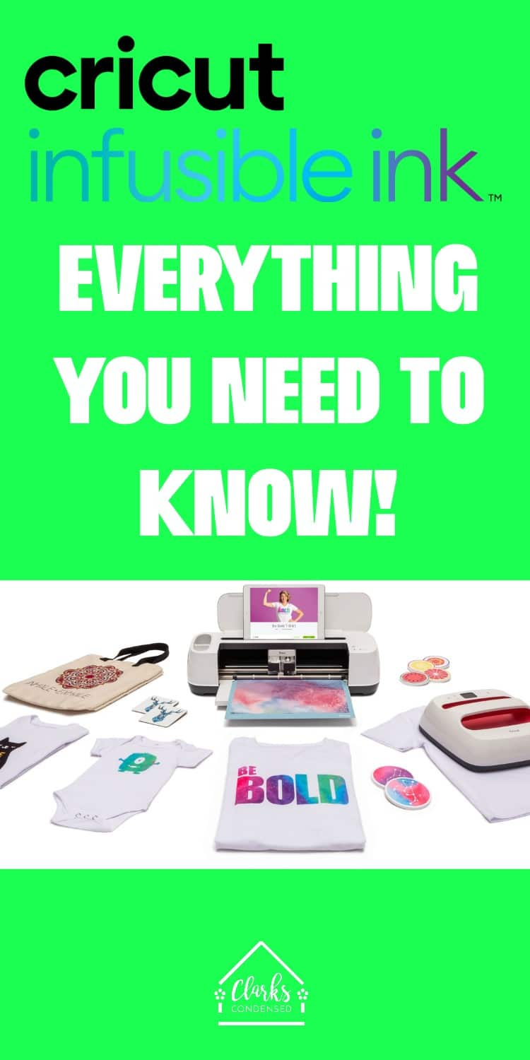 Cricut infusible ink - everything you need to know via @clarkscondensed
