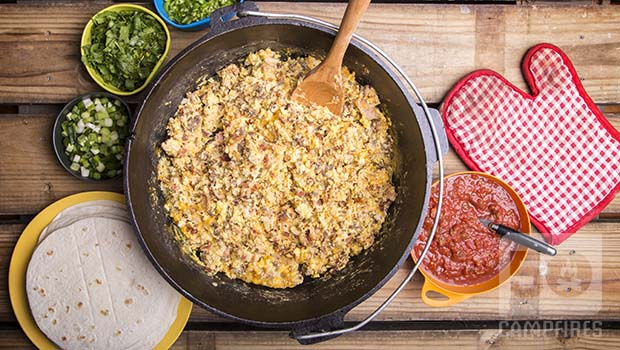 Easy Dutch Oven Breakfast Burritos