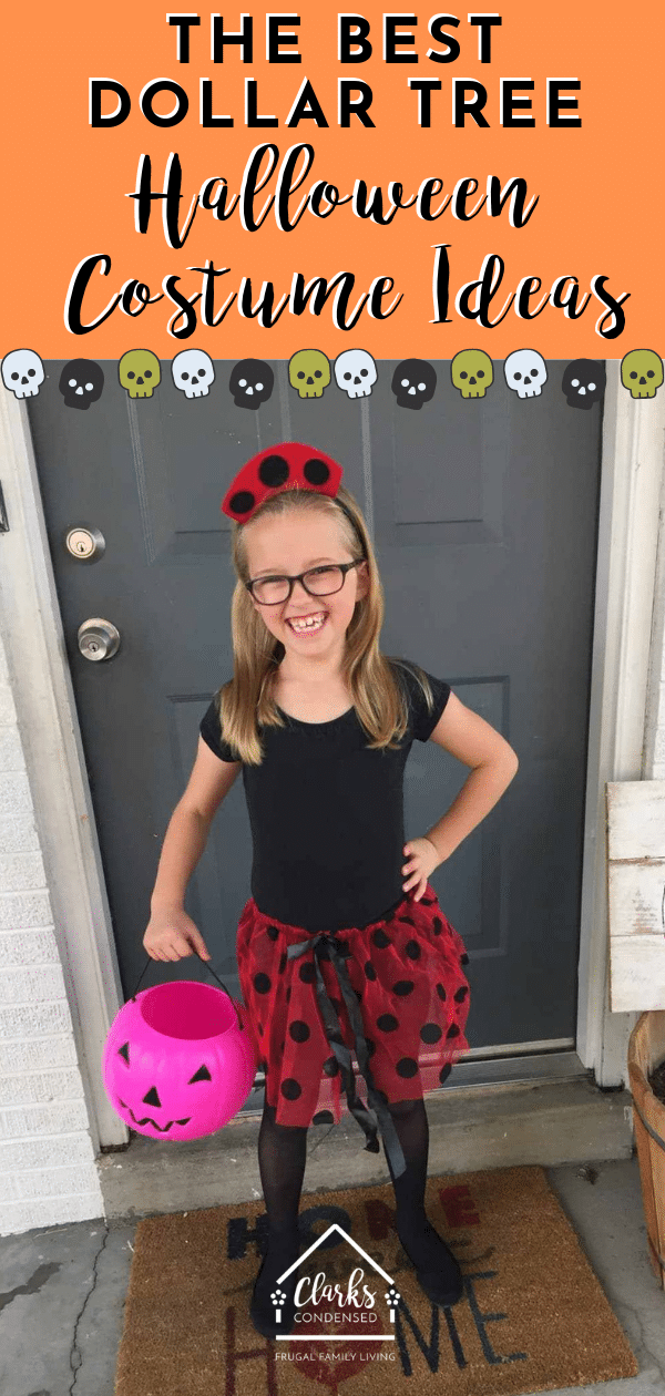 Dollar Tree Halloween Costumes / DIY Halloween Costume Ideas / Easy Halloween Costume Ideas / Halloween / #Halloween #costumeideas #costumesforkids via @clarkscondensed