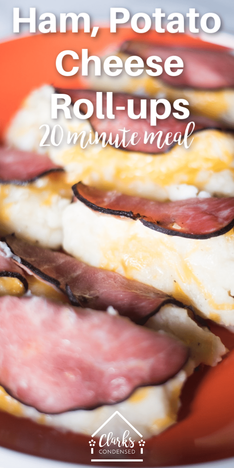 Ham and Potato Roll-ups / Ways to use leftover ham / ham and cheese recipes / thanksgiving leftovers / cheesy potatoes with ham  via @clarkscondensed