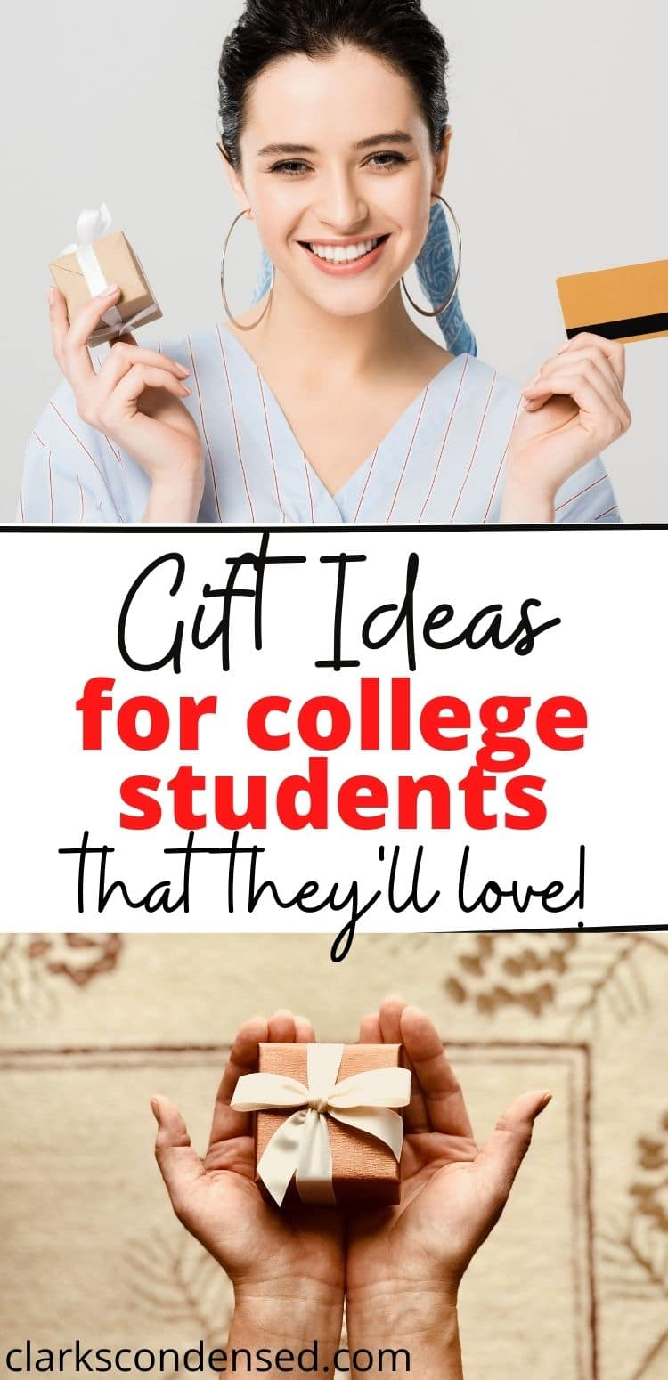 "Fun gift ideas for college students - whether it's Christmas, their birthday, or ""just because"", these gift ideas are great for guys and girls. via @clarkscondensed"