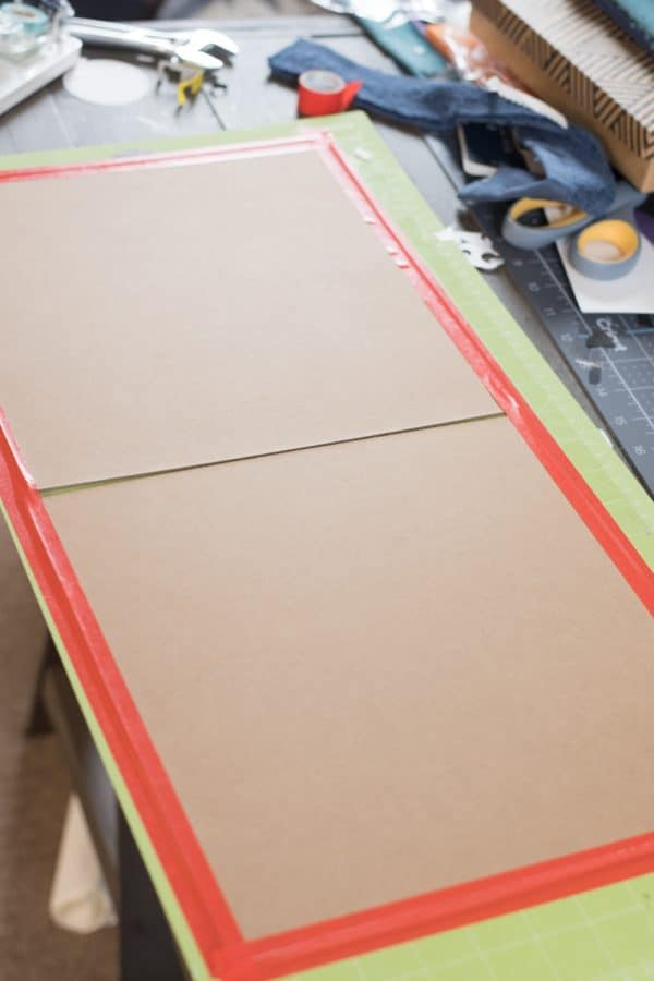 cricut mat with chipboard