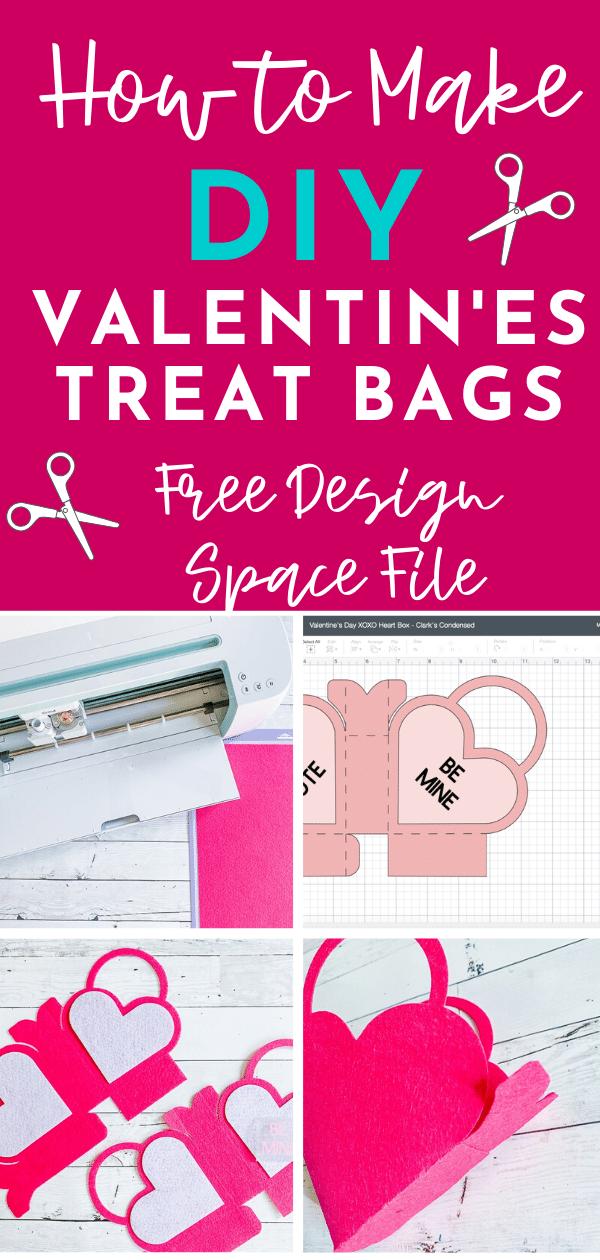 Super cute DIY Valentine's Treat Bag - free valentine's day project in Design Space! via @clarkscondensed