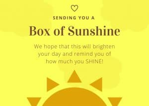 box of sunshine printable