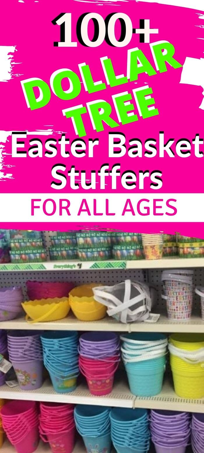 Over 100 Dollar Tree Easter Basket stuffers that won't break the bank. Ideas for every age - and even for pets! via @clarkscondensed