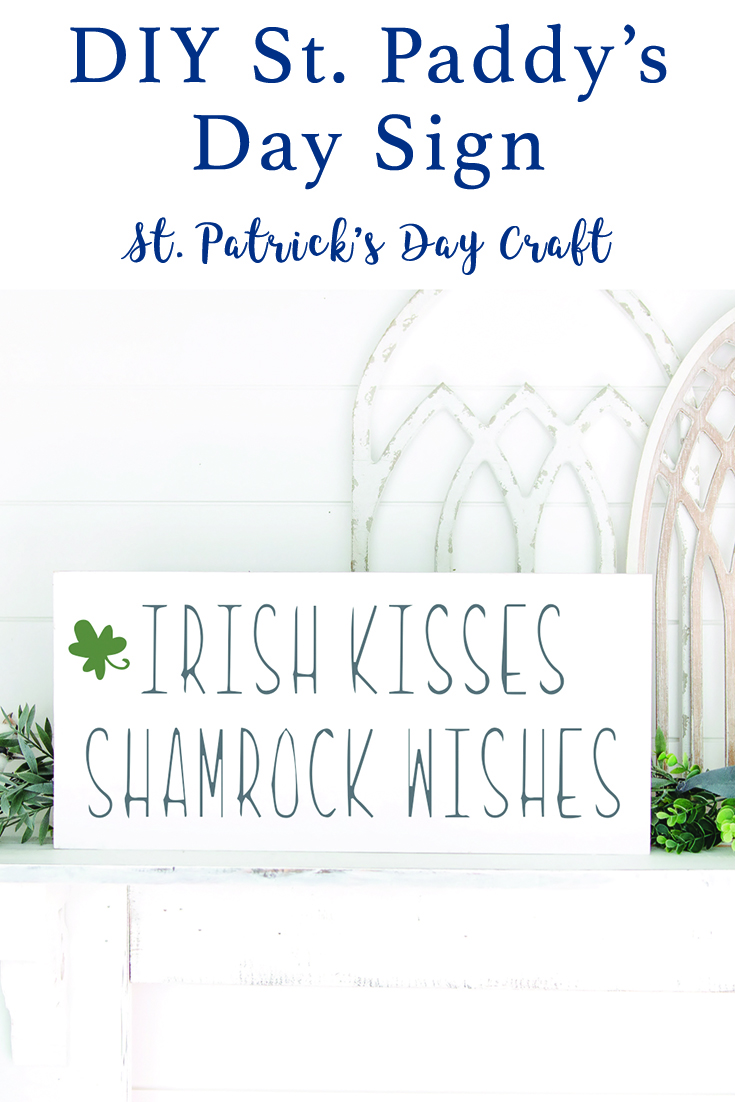 Cricut St. Patrick's Day Sign and Tutorial via @clarkscondensed