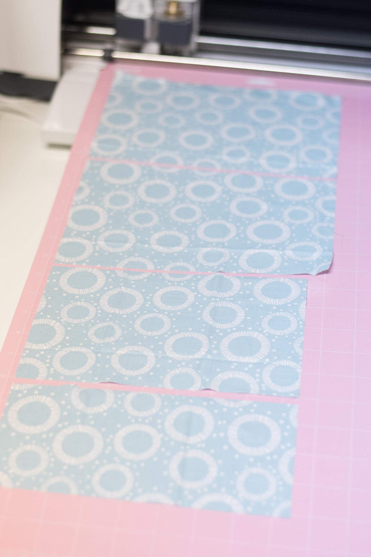 cotton on pink fabric mat for cricut