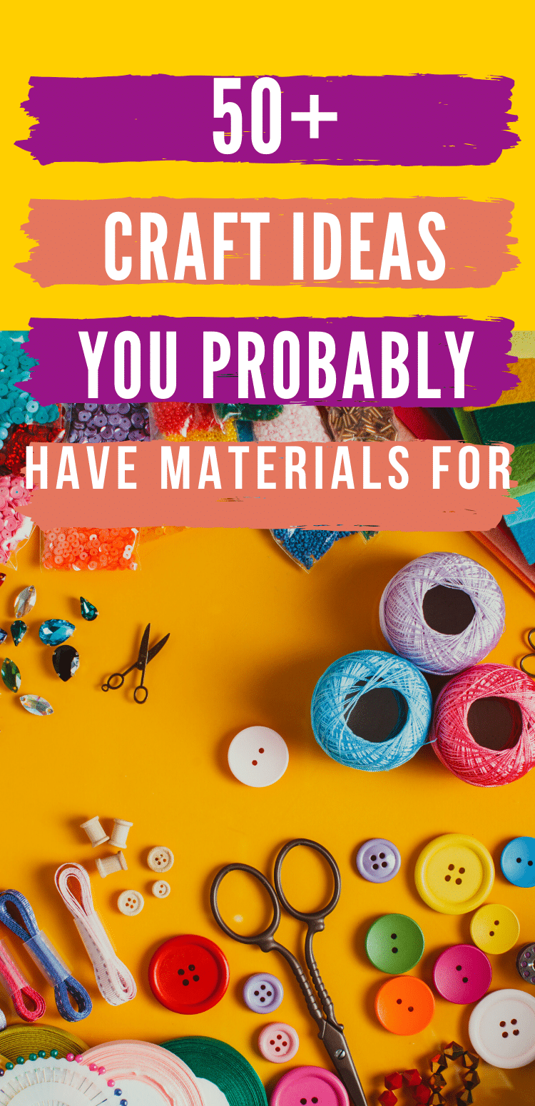 Crafting doesn't have to be expensive or time-consuming. We've rounded up the ultimate list of craft ideas using items that you probably already have in your house! #upcycled #recycled #easycraftideas #craftideas via @clarkscondensed