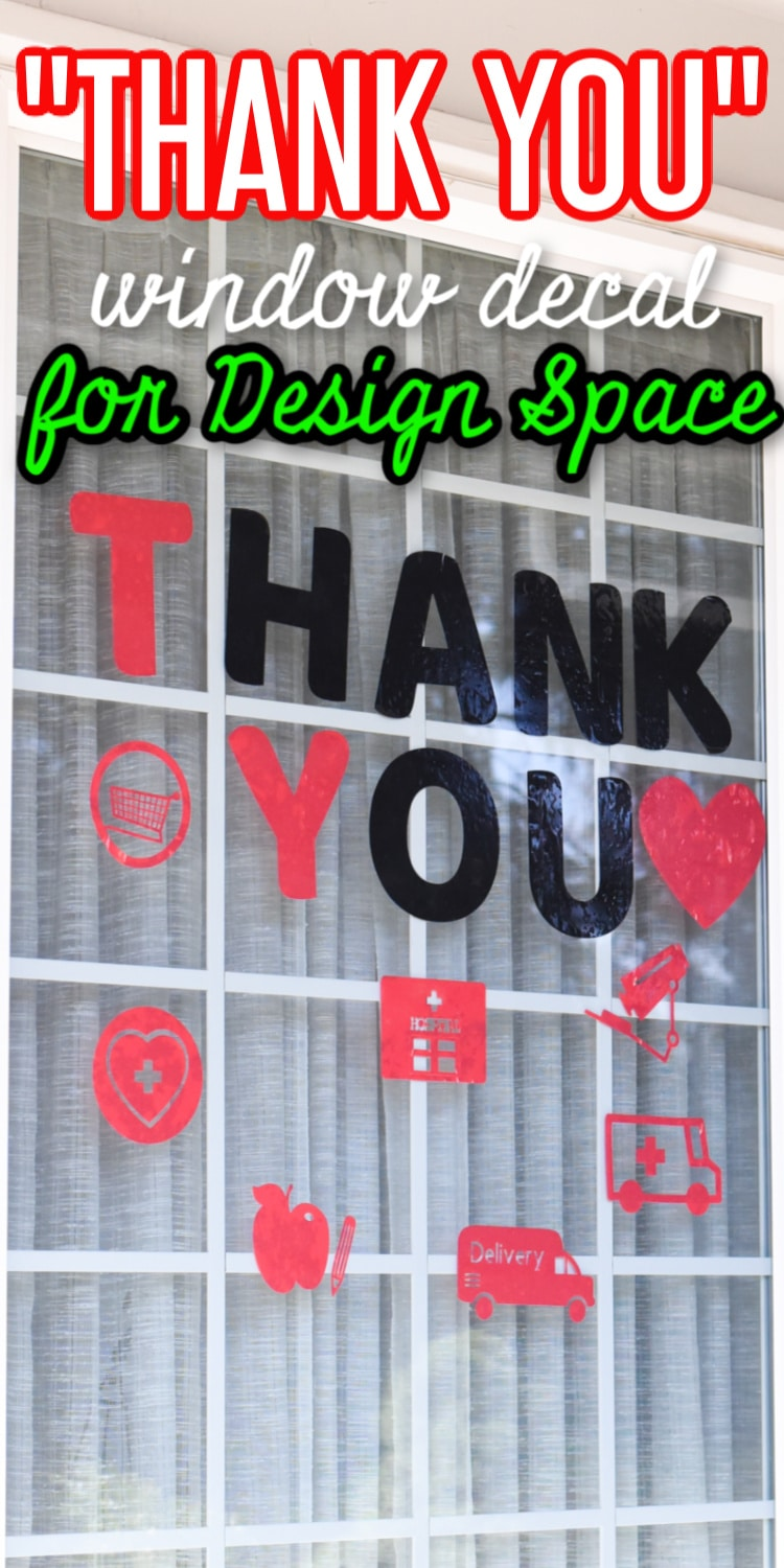 """This is a simple Cricut project you can make using window cling - say """"thank you"""" from your window to all those who might need it! via @clarkscondensed"""