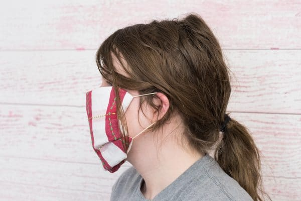 towel face mask with rubber band