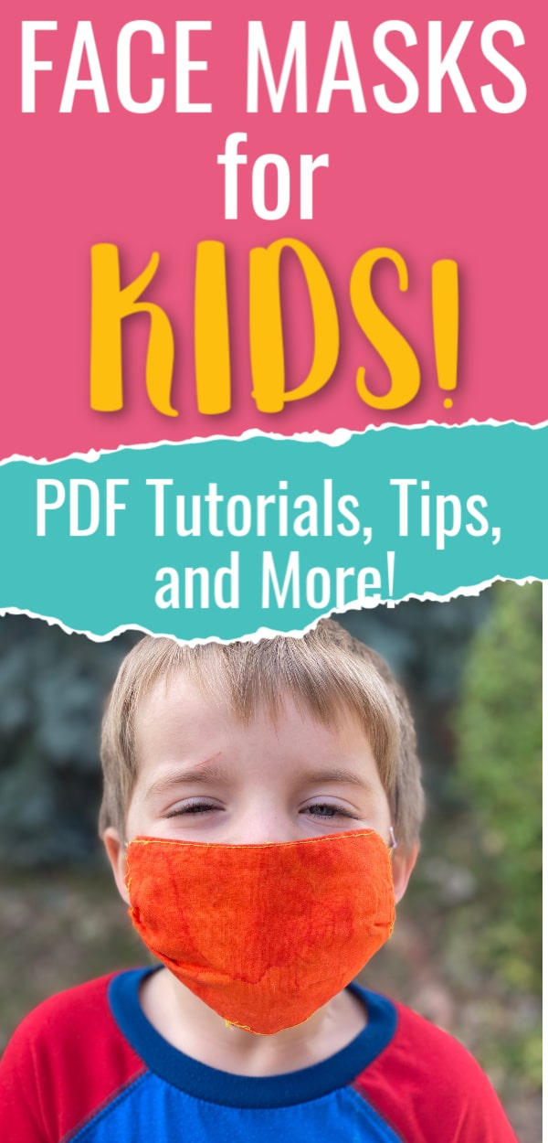 Homemade face mask tutorials and PDF specifically for kids! via @clarkscondensed