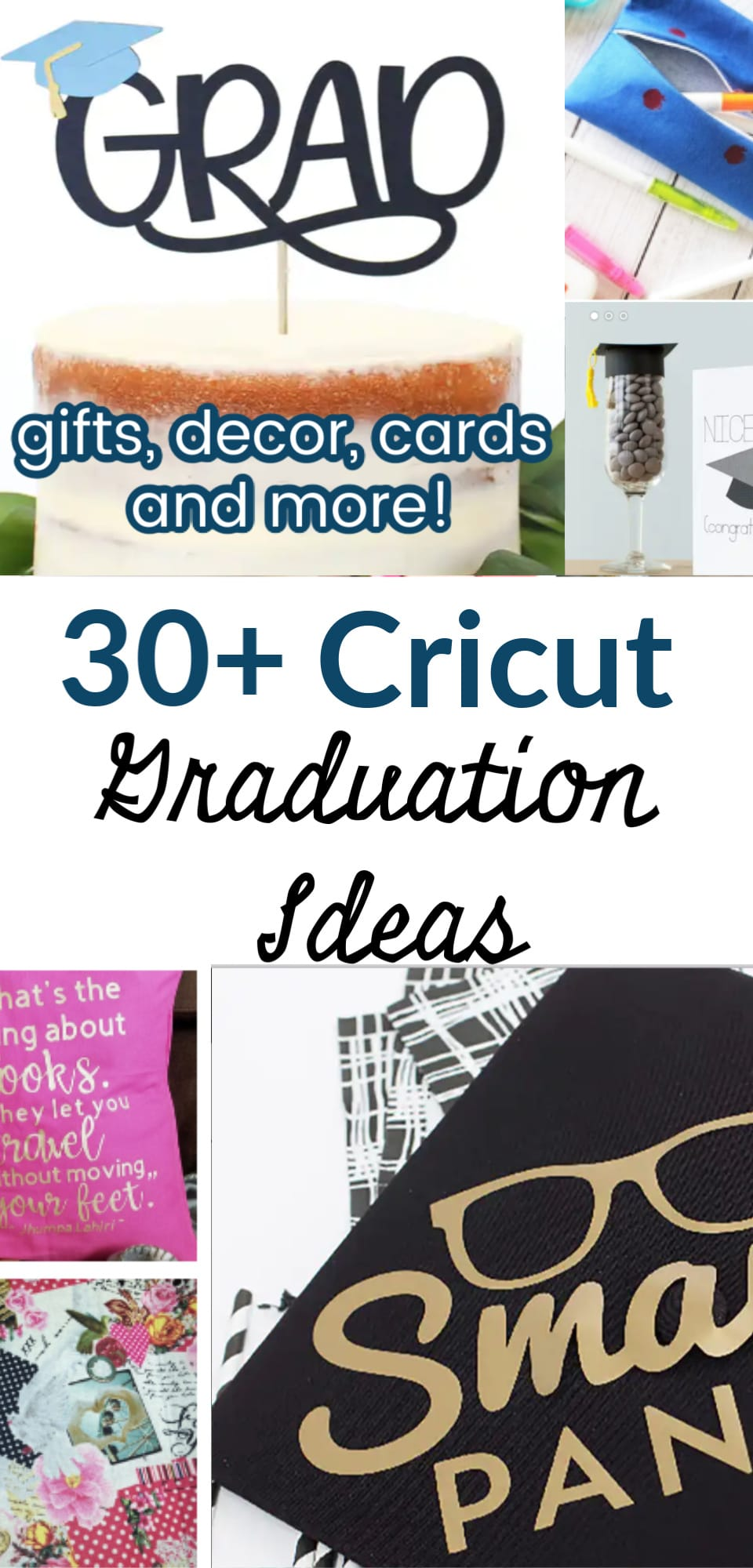 Celebrate your graduate in style with these Cricut Graduation ideas! We have ideas cards, gifts, decor, and more! Customize this momentous day with something fun! Graduation decal ideas. via @clarkscondensed