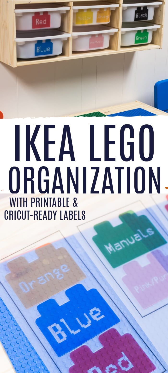 Do you have a LEGO lover in your house? Then you can understand how messy they can get! Here is our DIY IKEA LEGO Table - along with free printable LEGO labels so you can create your own solution in your home. via @clarkscondensed