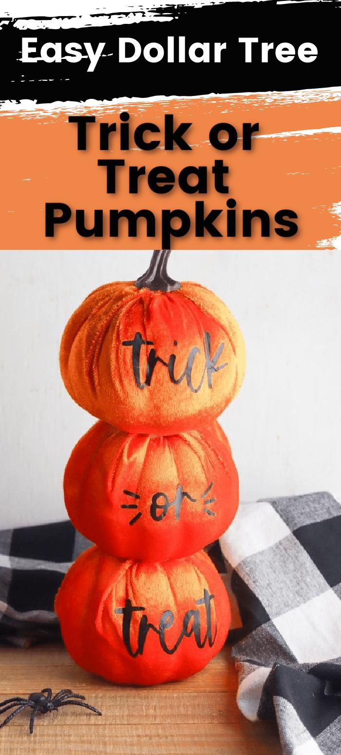 DIY Trick or Treat Pumpkins - Free SVG Files via @clarkscondensed
