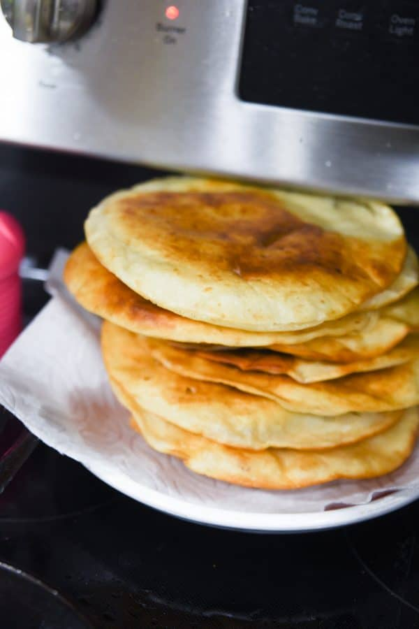 fried tortillas for mexican pizza