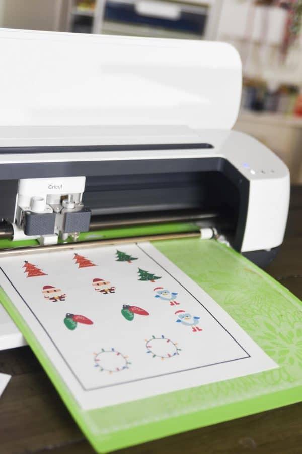 cricut machine cuting stickers