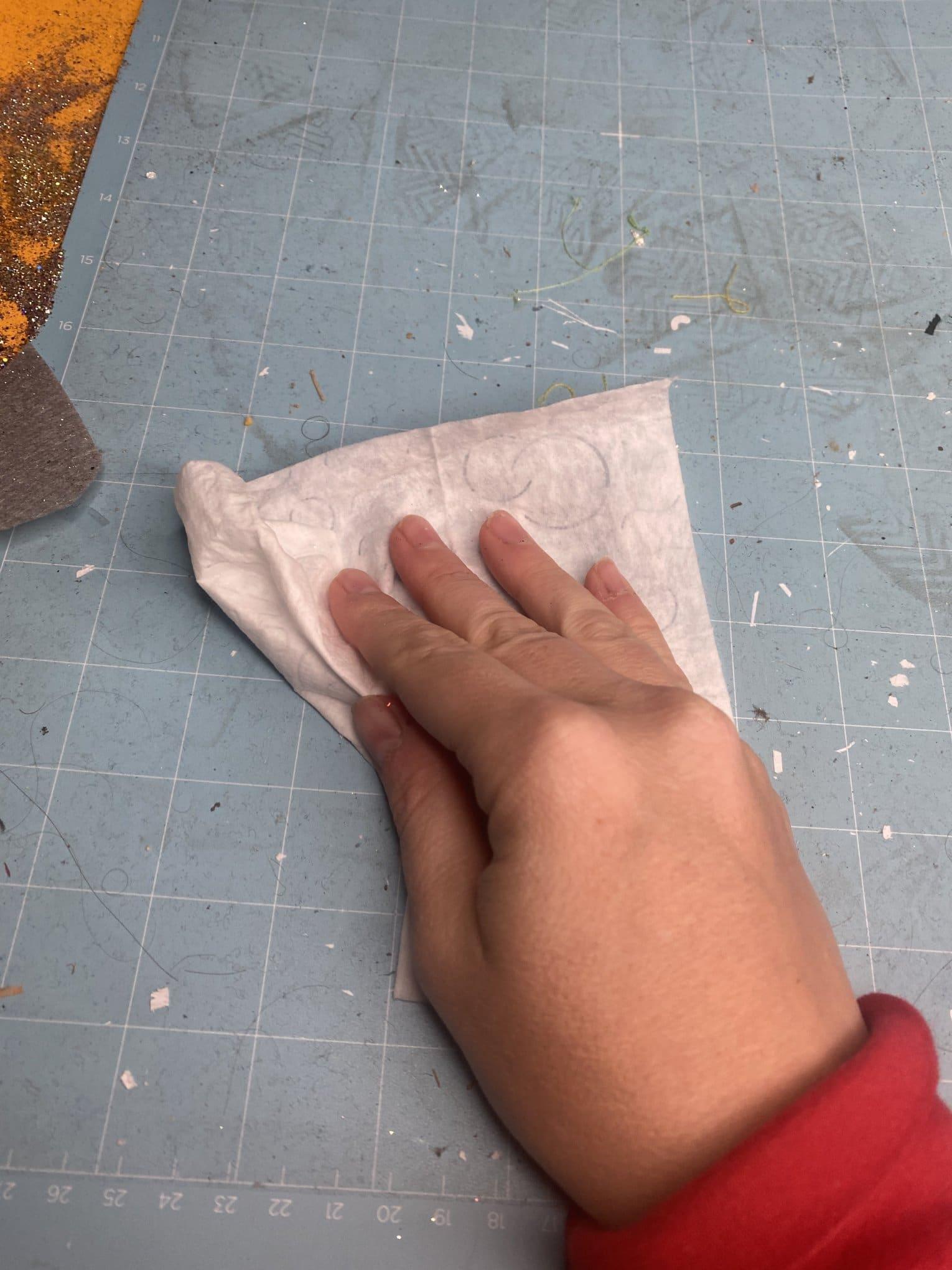 baby wipe on cricut mat