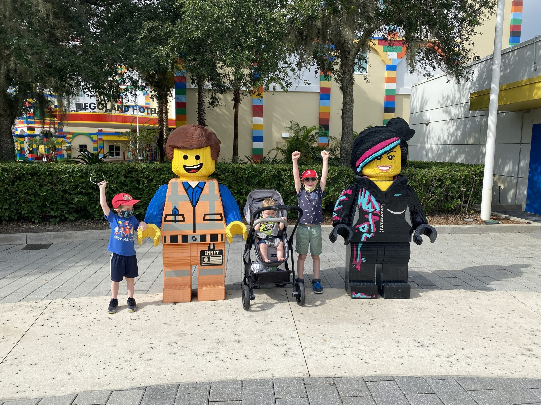 kids at legoland during covid