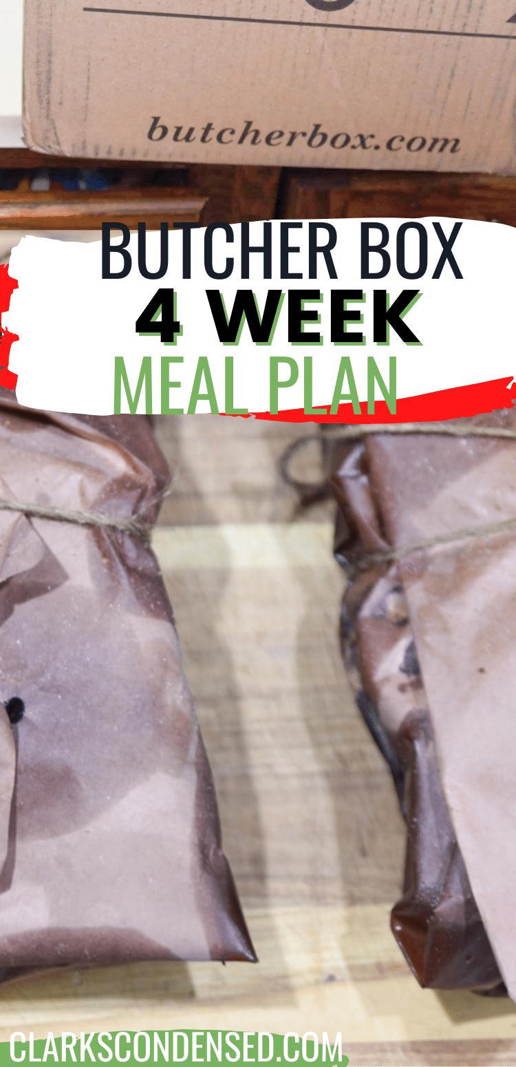 Free 4-Week Butcher Box Recipe Meal Plan via @clarkscondensed
