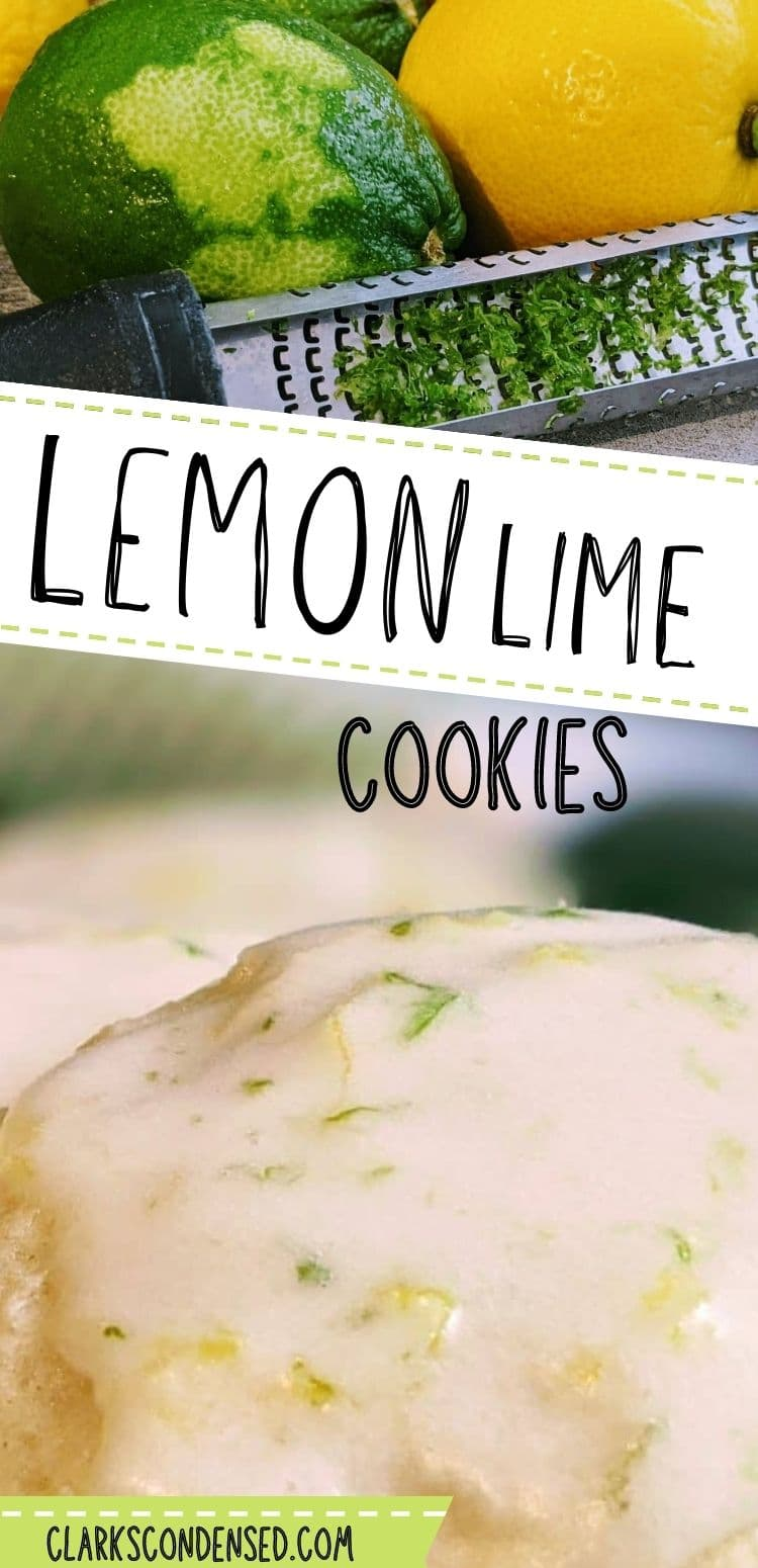 "Are you looking for the perfect spring cookie recipe? Look no further than this sweet lemon lime cookies that have the perfect amount of ""zing"". via @clarkscondensed"