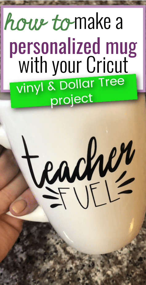 Looking for some fun dollar tree DIY crafts? Here's a beginner friendly cricut project idea that will help you customize your mugs. This is a perfect personalized gift idea for your parents, friends and colleagues. This blog will teach you how to make a personalized mug with cricut, and it's super easy so you don't have to worry about taking so much time! Being thoughtful has never been this cheap and easy! #dollartreediy #dollarstorecrafts #diyproject #diygiftideas #diycraftideas #personalized via @clarkscondensed