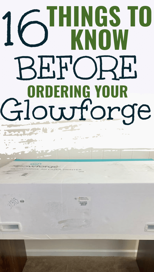 If you are considering purchasing a Glowforge, you have t read this post first! It outlines 16 topics that you should consider before you buy your Glowforge 3D Laser Printer! via @clarkscondensed