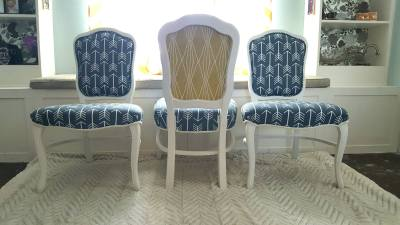 Custom Upholstered Dining Chairs   SPEC