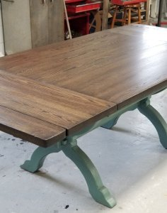 Custom Dining Table   SPEC Church Pew Dining Table